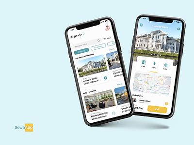 House Renting App Mockup flat userinterface icon branding userexperiencedesign userexperience ux ui design app