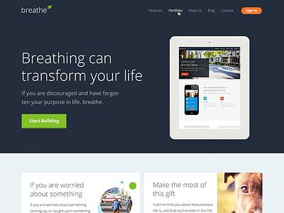 Banner Slide wordpress theme wordpress template landing homepage themeforest clean minimal breathe