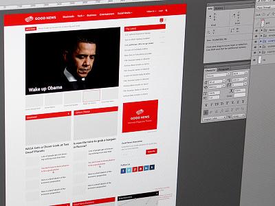 New Homepage good news homepage news magazine blog theme wordpress red grid