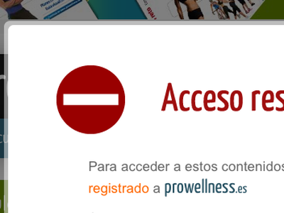 Access restricted modal window access restricted