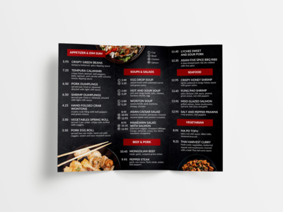 Chinese Restaurant Print Design