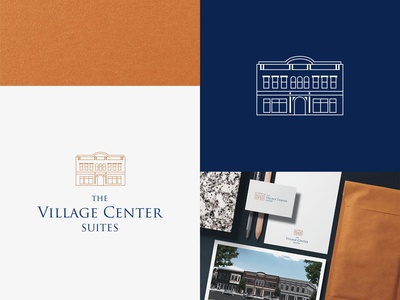 The Village Center Suites Logo Design