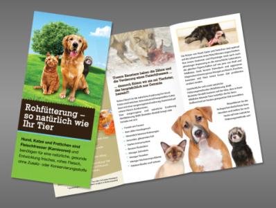 Natural pet foods leaflet