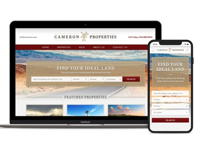 Land broker website theme design