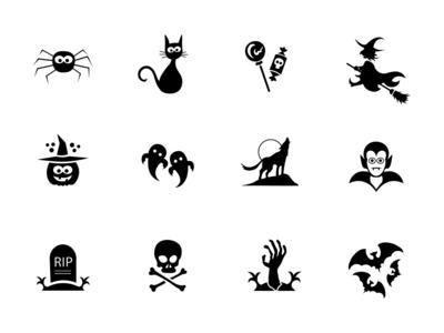 Free Cute Horror Icon Set