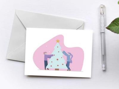 Christmas card mockup