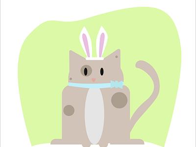Easter Kitty illustration