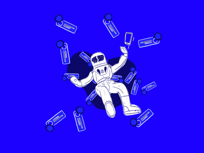 Notification Black Hole astronaut blackhole text illustration