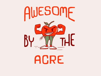 How you like them apples? handlettering hand drawn typography character illustration