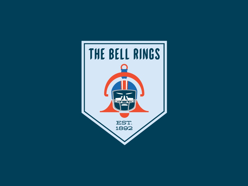 The Bell Rings exhibit logo bell rivalry highschool football pueblo