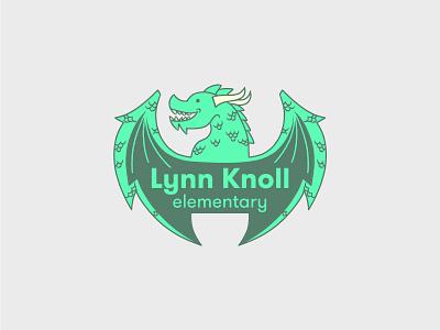 Lynn Knoll illustration dragon elementary school logo