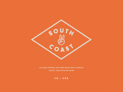 South Coast Mark tshirt apparel design californiaclothing orange apparel logo apparel peace fashion fashion brand swimwear usa california logo brand brand identity lettering brand design branding