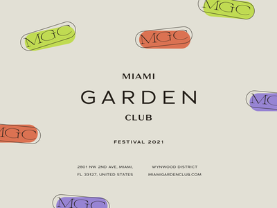 MGC alternate styling festival design festivals festival club flyer design club flyer club logo club garden wynwood usa miami lettering art vector logo brand typography brand identity lettering brand design branding