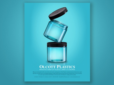 Olcott Plastics Blue Stacked