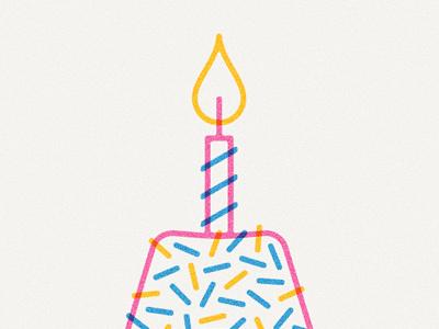 Cake & Candle illustration