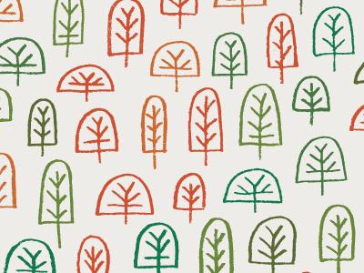 Autumn Trees doodle