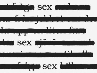 Sex illustration typography