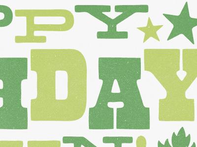 Happy Birthday typography type