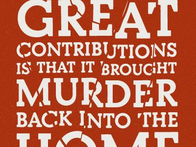 Hitchcock Quote type typography