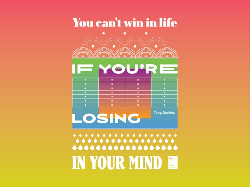 You can't win in life if you're losing in your mind quoteoftheday quote prints printdesign notebook mug wallpaper tshirt print posterdesign posteraday poster totebag motivationalquote motivation minimalism inspiration dailyposter artwork art