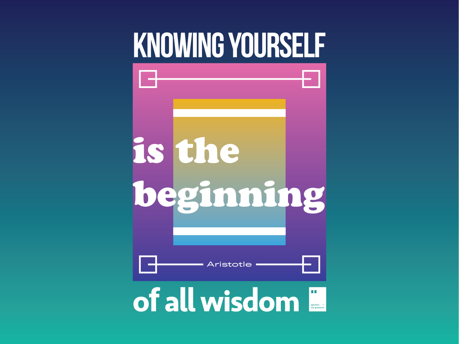 knowing yourself is the beginning of all wisdom by quotes on