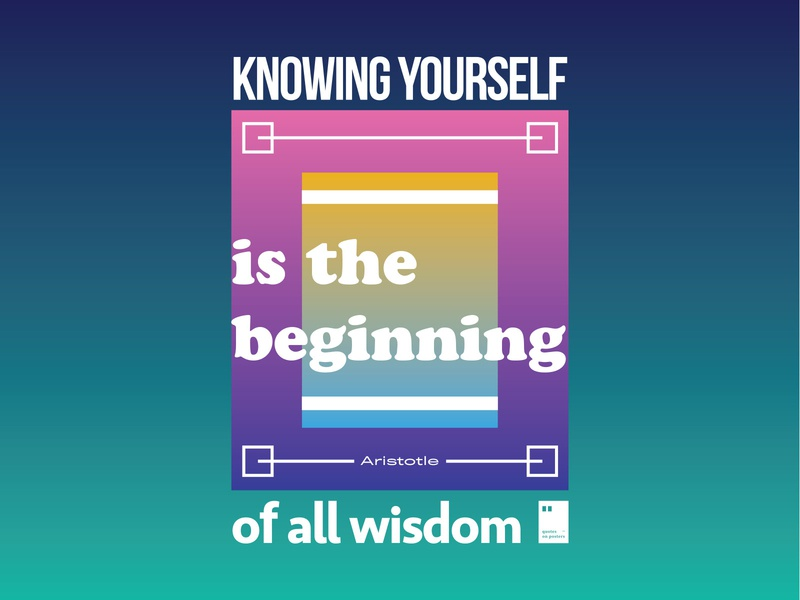 Knowing yourself is the beginning of all wisdom quoteoftheday quote prints printdesign notebook mug wallpaper tshirt print posterdesign posteraday poster totebag motivationalquote motivation minimalism inspiration dailyposter artwork art