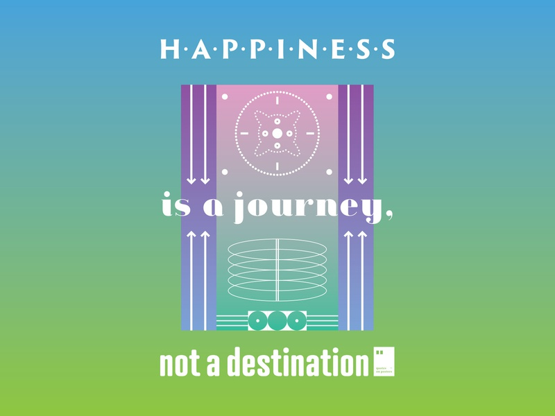 Happiness is a journey, not a destination quoteoftheday quote prints printdesign notebook mug wallpaper tshirt print posterdesign posteraday poster totebag motivationalquote motivation minimalism inspiration dailyposter artwork art