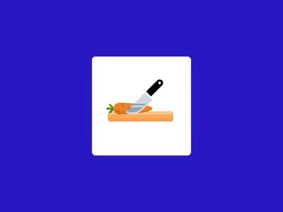 METRO app preloader - chopping carrot