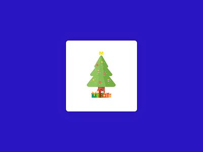 METRO app preloader - christmas tree tree christmas animation loader spinner prelaoder metro market