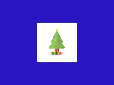 METRO app preloader - christmas tree
