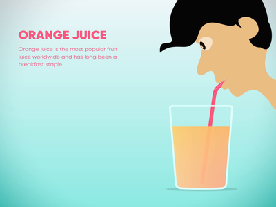 Drinking Juice Animation nutrition character animation animation pipette straw juice drink