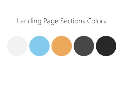 Landing Page Sections Colors colors landing section palette landing page