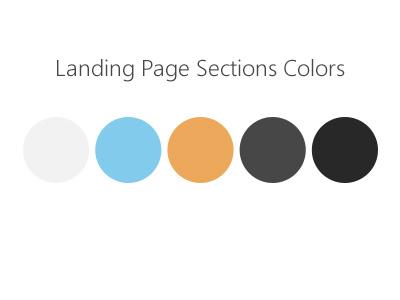 Landing Page Sections Colors colors landing section palette landing page