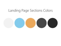 Landing Page Sections Colors