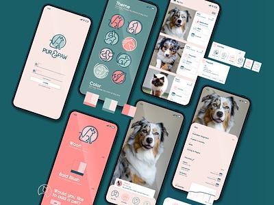 Pur & Paw Pet Suite app design uidesign ui design uiux ux ui alarm calendar ui calendar app pet care petstore petshop pets pet