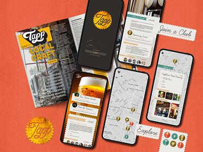 Tapp App brewery logo brewery branding alcohol brewery mapping map clubs network networking social network social beer art beer app concept app logo app ui app design app