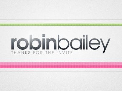 Thank You Robin Bailey