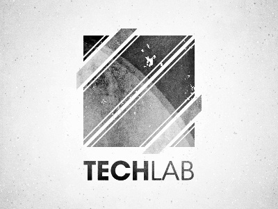 Techlab black and white space tech vintage grunge