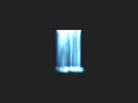Animated Canvas Waterfall