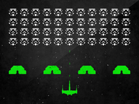 Star Wars and Space Invaders Mashup