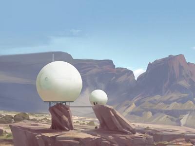 base scifi enviroment background digital art concept drawing illustration