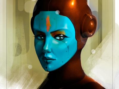 personaje sistema k200 digital art concept illustration
