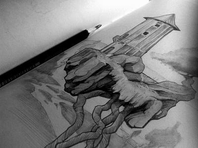 sobrelos mares traditional art sketch illustration drawing