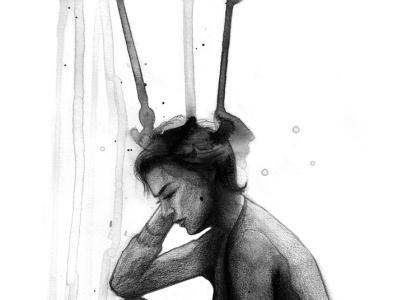 El sueño de unas palabras editorial magazine traditional art concept sketch art illustration drawing