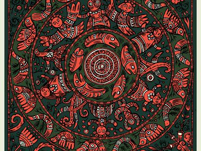 Ukrainian mandala traditional art textile print textile design illustration ornaments ornamental