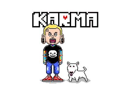 KARMA - Undertale Parody Merch Design pixelart game art character design design photoshop adobe illustrator illustration graphic design