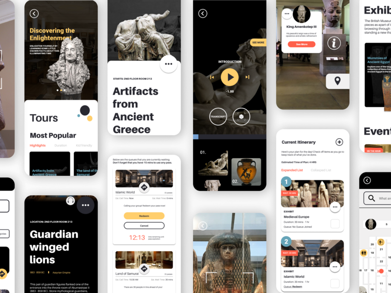 Re-designing the British Museum's mobile App museum mobile app design mobile app ui ux design