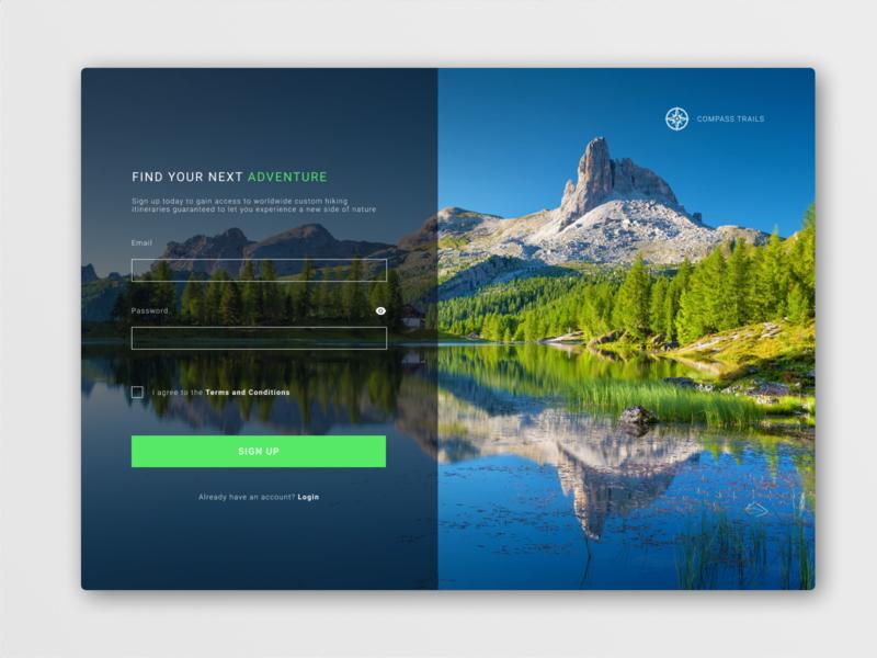 Daily UI Challenge: Sign Up Page website ux design ui