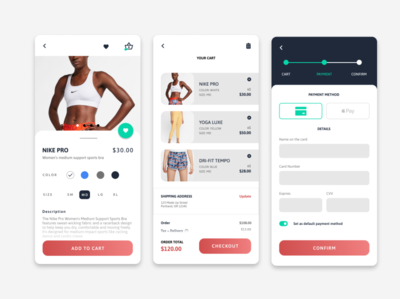 Credit Card Checkout : Daily UI Day 2 ui mobile app design clothing ux mobile app dailyuichallenge dailyui