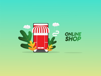 Simple Online Shop Design Illustrations
